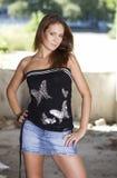 Sexy jonge vrouw Stock Foto