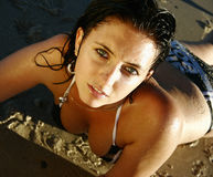 Sexy jonge vrouw stock foto's