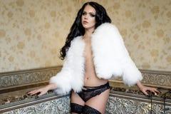 Sexy jonge vrouw die lingerie draagt Stock Fotografie
