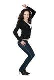 Sexy jonge vrouw in jeans. Royalty-vrije Stock Afbeeldingen