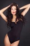 Sexy jonge vrouw met perfect sexy lichaam Stock Afbeeldingen