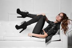Sexy junge Dame Stockfotos