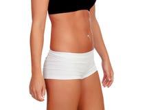 Sexy Körperfrau mit Unterwäsche Stockbild