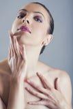 Sexy Kaukasische vrouw Stock Afbeeldingen