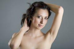 Sexy Kaukasische vrouw Royalty-vrije Stock Afbeelding