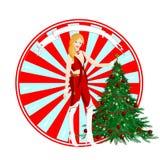Sexy Kerstman Royalty-vrije Stock Afbeelding