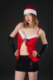 Sexy Kerstmanmeisje Royalty-vrije Stock Foto's
