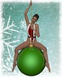 Sexy Kerstmismeisje Stock Foto