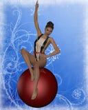 Sexy Kerstmismeisje Royalty-vrije Stock Afbeeldingen