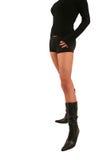 Sexy kleine zwarte laarzen Hannah Royalty-vrije Stock Foto's