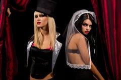Sexy ladies vampire Stock Photo