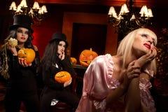 Sexy ladies vampire Stock Images