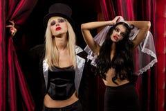 Sexy ladies vampire Royalty Free Stock Photo
