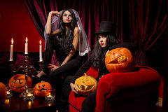 Sexy ladies vampire Stock Images