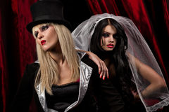 Sexy ladies vampire Royalty Free Stock Images