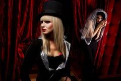 Sexy ladies vampire Stock Photography