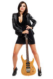 Sexy lady with a guitar Stock Images