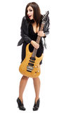 Sexy lady with a guitar Stock Photography
