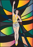 lady hand up mosaic stock illustration