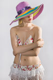 Sexy lady in a hat Stock Photos