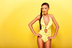 Sexy Lady Modeling Swimwear Stock Photography