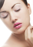 Sexy lady with pink lips Stock Image