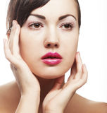 Sexy lady with pink lips Royalty Free Stock Photo