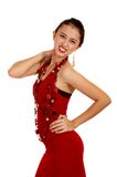 Sexy lady in red dress Royalty Free Stock Photo