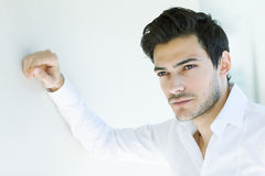 Sexy latin man. Sexy young latin man posing Royalty Free Stock Image