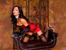 Sexy Latina in Corset Stock Photos