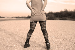 Sexy leggings Stock Image