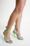 Legs. Long lean legs in high heels Royalty Free Stock Image
