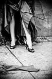 Legs and Black High Heels stock photography