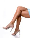 legs in heels royalty free stock photo