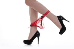 Legs in high heels Royalty Free Stock Images