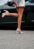 Sexy legs in high heels Royalty Free Stock Image