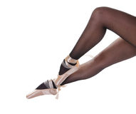 Sexy legs in pointes Stock Photo