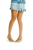 Sexy legs on white background Stock Photos