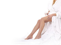 Legs of a young and beautiful woman stock photos