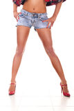 Sexy legs of young woman Royalty Free Stock Photography