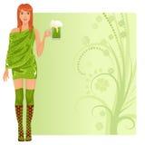 leprechaun girl Stock Image