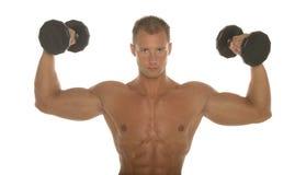 Sexy lichaamsbouwer Stock Foto