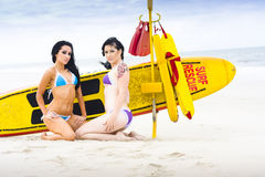 Sexy Lifesaver Beach Patrol Stock Images