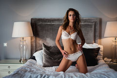Sexy lingerie in bed Royalty Free Stock Photo