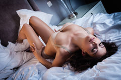 Sexy lingerie in bed Stock Image