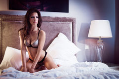 Sexy lingerie in hotel Royalty Free Stock Photo