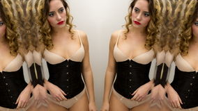 lingerie mirror woman