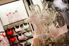 Sexy Lingerie Shop Royalty Free Stock Photography