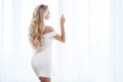 Sexy lingerie on a window Royalty Free Stock Photography