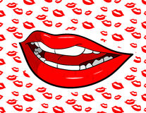 Sexy lippen Royalty-vrije Stock Fotografie